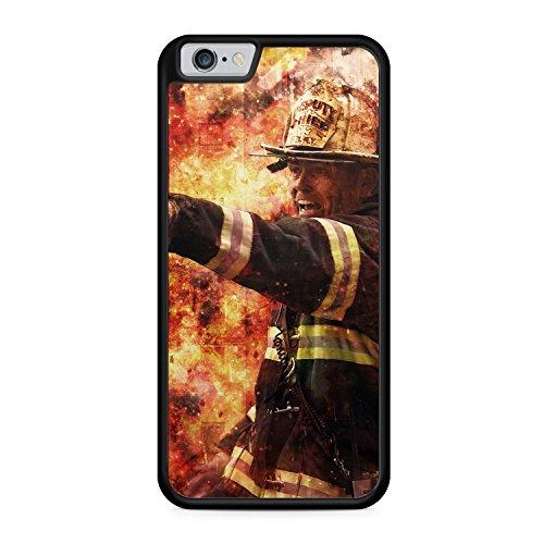 Feuerwehr Foto - SILIKON Hülle für iPhone 6 Plus & 6s Plus - TPU Schutz Cover Case Schale Feuerwehrmann