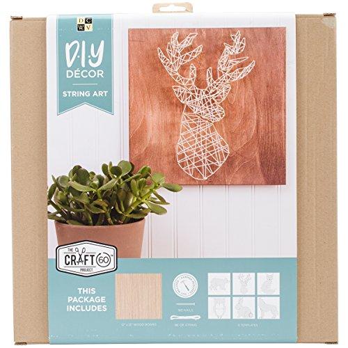 Die Cuts String Art Kit 12''X12''-Woodland Creatures by Die Cuts