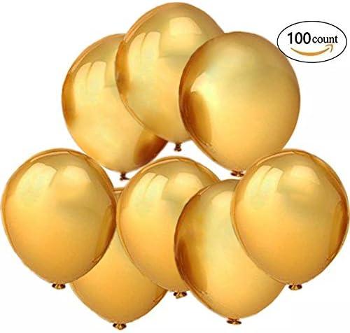[スポンサー プロダクト]10インチゴールドバルーン 風船 ラテックス風船 バルーン パーティー お誕生日会 結婚式 飾り付け