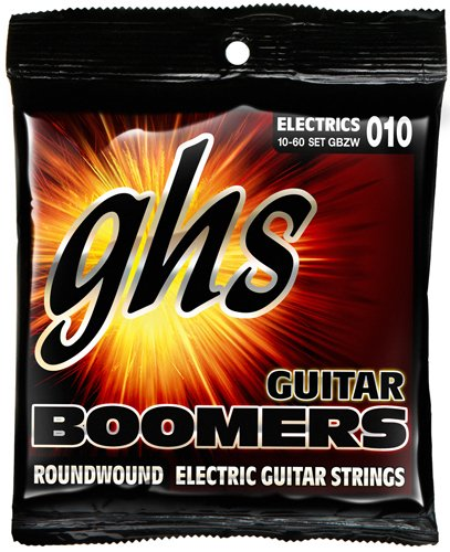 GHS Strings GBZW Boomers, Nickel-Plated Electric Guitar Strings, Heavyweight (Plated Round Wound Light)
