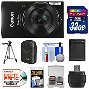 Canon PowerShot Elph 190 is Wi-Fi Digital Camera with 32GB Card + Case + Battery + Tripod + Kit