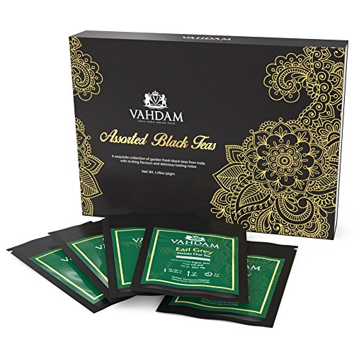 Luxury Black Tea Gift Set, 5 Exclusive Loose Leaf Teas Sampler, Perfect Christmas Tea Gift Set, Individually Sealed Tea Samplers - Ethical, Direct & Fair-Trade, Truly