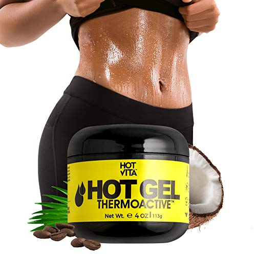 Hot Vita Hot Gel ThermoActive - Workout Enhancer Sweat Cream with Coconut oil, Jojoba Seed Oil, Coffee Arabica Seed Extract, Olive Oil and Green Tea Leaf Extract for Women (4 Ounce)