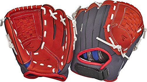 Easton Youth Z-Flex ZFX 1001 Ball Glove (10-Inch), Red/Black, Right Hand Throw Sports Baseball Glove Velcro