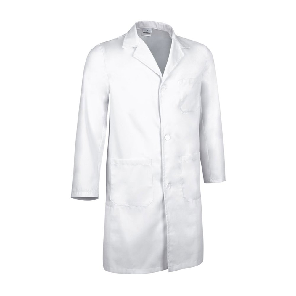 Bata mujer entallada manga larga con bolsillos para laboratorio, pintar, envasado, prácticas universidad, medicina, oftalmología, odontología (XS): ...