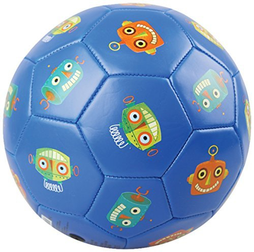 Crocodile Creek Kids Robots Soccer Ball, Blue, 3/7 by Crocodile Creek