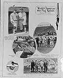1925 photo Raising of World Championship Flag Vintage Black  and  White Photograp a3