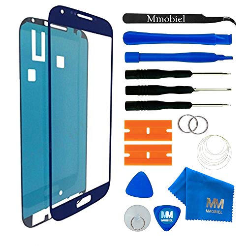 MMOBIEL Front Glass replacement for Samsung Galaxy S4 (Blue) Display Touchscreen incl Tool Kit