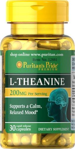 Pride L-teanina de Puritan 200 mg-30 cápsulas