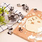 Mini Letter and Number Cookie Cutters Set of 36