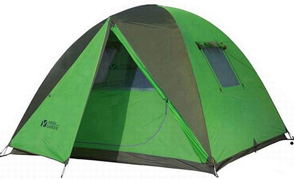 野生のキャンプハイキングキャンプ防風と防雨3-4人三季アルミポール大スペーステント - グリーン