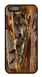 Covers The Guardian Wolf Custom PC Hard Case Cover for iPhone 5/5S Black