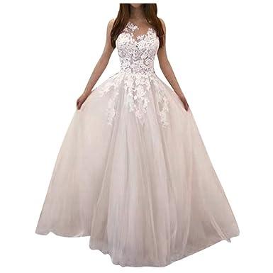 EC003 - Vestido de Noche para Mujer, Largo, Gasa, Elegante, para ...
