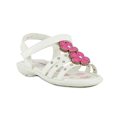 Amazon walkright girls white sandal with pink flowers size 6 walkright girls white sandal with pink flowers size 6 child uk 7 kids us mightylinksfo