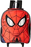Disney Spiderman Face 12' Rolling Backpack Red Toddler Size