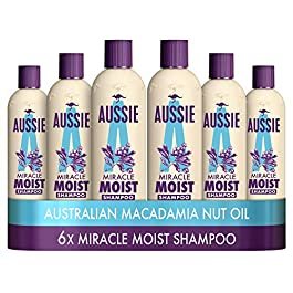 Aussie Miracle Moist Shampoo 300 ml – Pack of 6