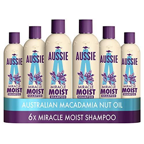 Amazon Com Aussie Miracle Moist Shampoo 300 Ml Pack Of 6 Beauty