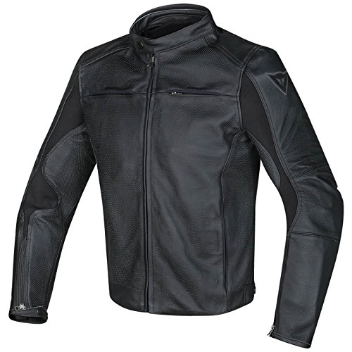 Dainese Men'S Razon Perf. Leather Jacket Black 56