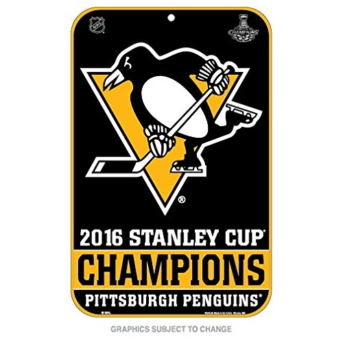 Pittsburgh Penguins Champions Official NHL 2016 Stanley Cup Street Wall Sign 11x17 Champs Wincraft 646941