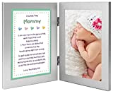 Gift for New Mom - Sweet Mommy Poem From Daughter in Double Frame - Add Photo