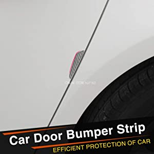 Carbon Fiber Car Side Door Edge Protection Guards Trims Stickers Fit for Alfa Romeo 147 156 159 Alfetta Berlina Brera Mito Black