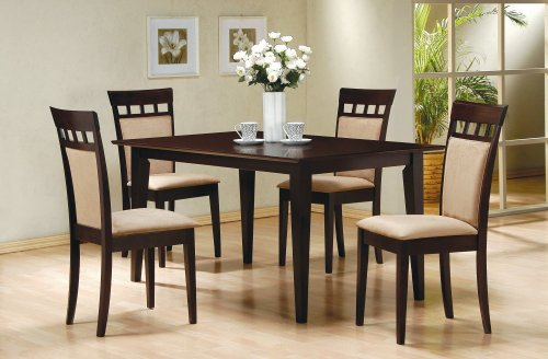 5-Piece Dining Set in Rich Cappuccino – Coaster