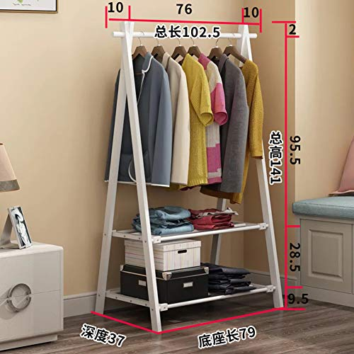 JiaQi Bamboo Garment Rack Storage Shelf,Clothes Rack Free Standing,for Garment Hats Scarves and Umbrellas Indoor and Outdoor use-B 102x37x141cm(40x15x56inch)