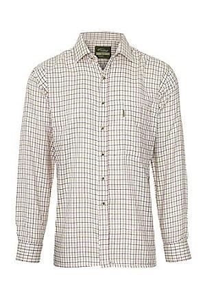 S4 Clothing Para Hombre Tattersall polialgodón Camisa Manga Larga a Cuadros Camisas: Amazon.es: Ropa y accesorios