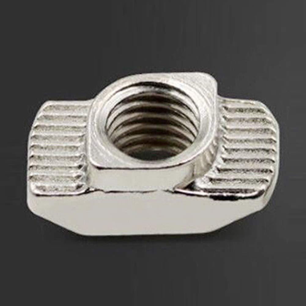 conector de acero al carbono est/ándar de la UE T-Nuts Juego de 20 tuercas M3 M4 M5 de aluminio para extrusi/ón de perfil en T bloque industrial deslizante para impresora 3D interior de la serie 20