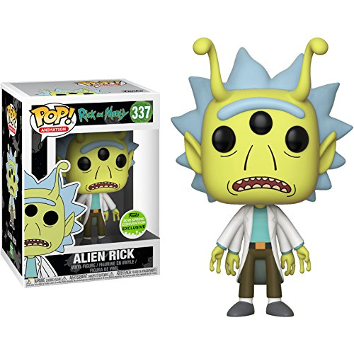 Funko Pop! Animation Rick y Morty SDCC 2018 Convencion de Primavera Edicion Limitada Alien Rick 337 Figura Exclusiva