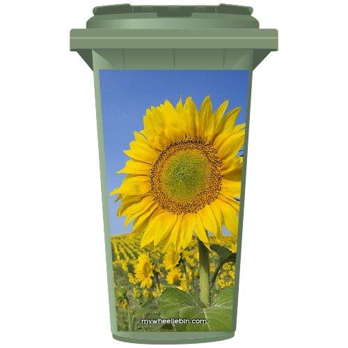 Sunflower In A Field Wheelie Bin Sticker Panel Large