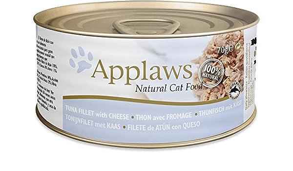 Applaws Gato Lata Atún y Queso (24 x 70 gr.): Amazon.es: Productos para mascotas