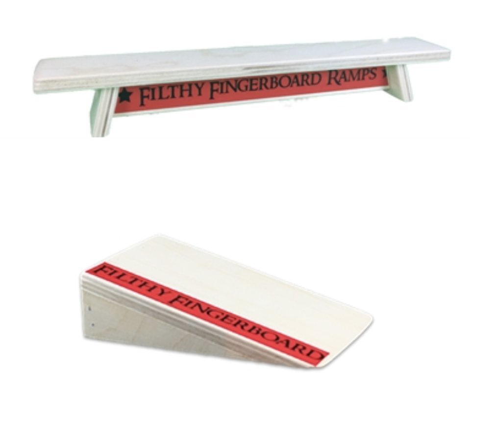 Pocket Kicker and Wood Bench Combo, for tech Decks and fingerboarding by Filthy Fingerboard Ramps