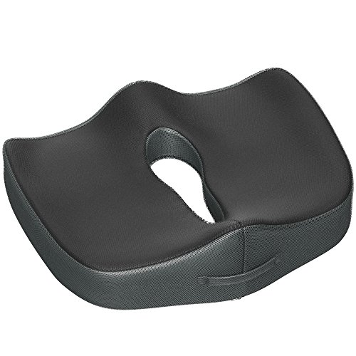 Gideon Coccyx Cushion Orthopedic Tailbone Seat Cushion for Office Chair, Car, Truck, Wheelchairs, etc. - Provides Relief for Lower Back Pain, Tailbone, Sciatica, Pelvic Pain, Prostate, etc.[Upgraded]