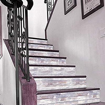 Vintage estilo de madera Decal Tiras de Escalera risers - Pelar y pegar - Etiqueta autoadhesiva- Decoración del hogar hazlo tu mismo - Paquete de 5 tiras: Amazon.es: Bricolaje y herramientas