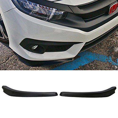 Front Bumper Lip Fits 2016-2018 Honda Civic | Ikon Style Black PU Front Lip Finisher Under Chin Spoiler Add On by IKON MOTORSPORTS
