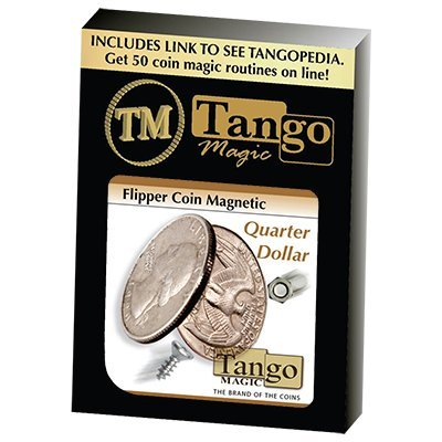 Flipper Coin Magnetic Quarter Dollar by Tango - Trick by Tango Magic