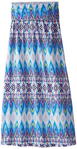 Speechless Big Girls' Printed Maxi Skirt, Blue/Purple, Small