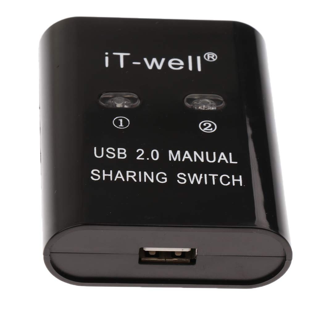 D DOLITY USB 2.0 Interruptor de Intercambio Manual Hub KVM 2 ...