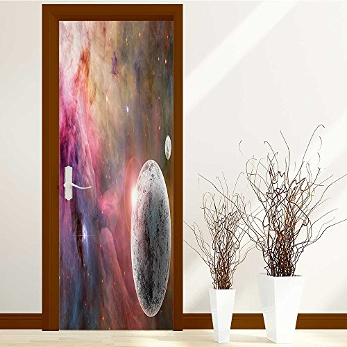 aolankaili 3D Fashion Decal Art Decor Wall Window Door Sticker Removable Mural Poster Scene 30x79 inch(Detailed Solar System with Scientific Information Jupi) by aolankaili