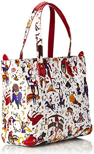piero guidi Damen Tote-Bag, Frutti Rossi, 30 cm