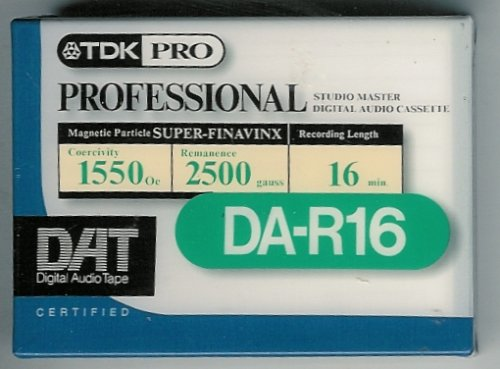 TDK Pro Professional Studio Master Digital Audio Cassette DAT DA-R16 by TDK