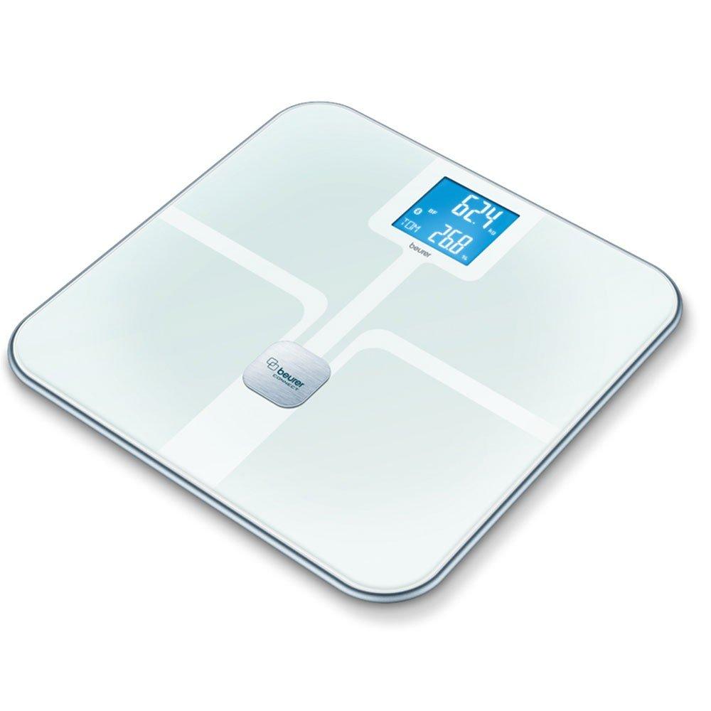 Beurer Báscula Digital Balanza Digital 800 White Báscula con conexión bluethooth móvil | Báscula de baño: Amazon.es: Hogar
