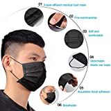 TecUnite 100 Pack Disposable Face Breathable Dust