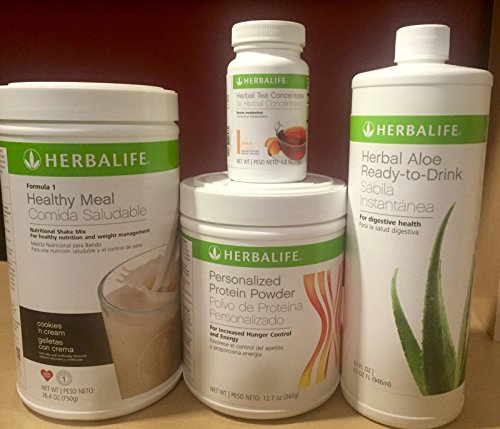Herbalife formula 1+Personalized Protein+Ready to drink Aloe+Herbal Tea Concentrate by Unknown