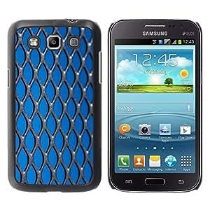 Be Good Phone Accessory // Dura Cáscara cubierta Protectora Caso Carcasa Funda de Protección para Samsung Galaxy Win I8550 I8552 Grand Quattro // Freedom Oppression Blue Metal