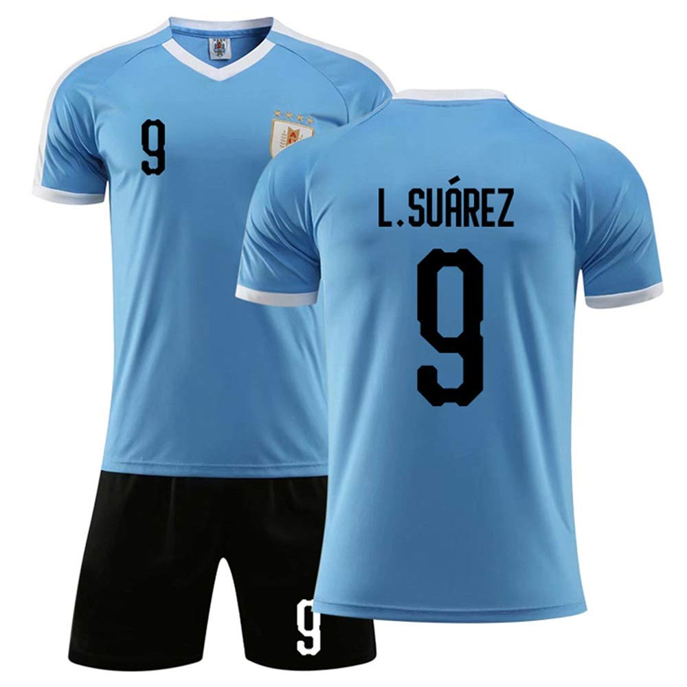 Americas Cup Uruguay jersey ,9th Suarez national team football clothing suit adult team uniform custom,Blue 9# 3# 10# 21# UZCWJB Adult Childrens Soccer Jersey