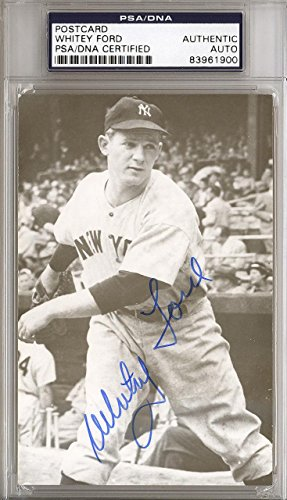 Whitey Ford Autographed Signed 3.5x5.5 Postcard New York Yankees #83961900 PSA/DNA Certified MLB Cut Signatures