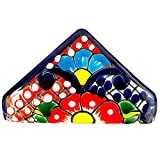 Colorful Napkin Holder - Authentic Hand Painted Mexican Pottery - Mexican Talavera Servilletero (Multicolor)