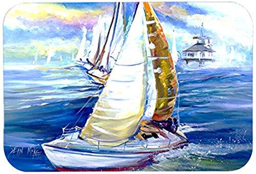 Multicolor 20 by 30 Carolines Treasures JMK1073CMTRock My Boat Sailboats Kitchen or Bath Mat